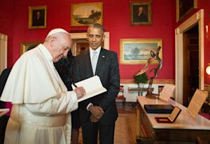 This photo released by L'Osservatore Romano shows…