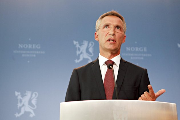 Norwegian Prime Minister Jens Stoltenberg answers questions in Oslo about of the findings of the inquiry published by the commission into the July 22, 2011 attacks on Monday Aug. 13, 2012. Norwegian authorities could have prevented or interrupted the bomb and gun attacks by a far-right fanatic that killed 77 people last year, a government appointed commission said Monday.The long-awaited report into the July 22 attacks also said the domestic intelligence service could have done more to track down the gunman, but stopped short of saying it could have stopped him. (AP Photo/Anette Karlsen / NTB scanpix) NORWAY OUT