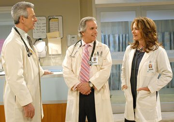 James Naughton, Henry Winkler and Stockard Channing CBS's Out of Practice
