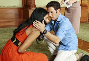 Reshma Shetty, Mark Feuerstein | Photo Credits: Giovanni Rufino/USA Network