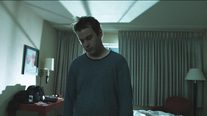 "In this publicity photo released by IFC Films, Mike Birbiglia as Matt Pandamiglio is shown in a scene from director Mike Birbiglia's ""Sleepwalk With Me,"" an IFC Films release.  (AP Photo/IFC Films, Adam Beckman)"