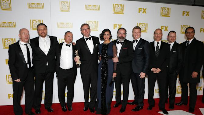 The cast of Homeland attends the Fox Golden Globes Party on Sunday, January 13, 2013, in Beverly Hills, Calif. (Photo by Todd Williamson/Invision for Fox Searchlight/AP Images)