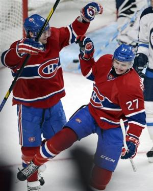 Ryder's goal lifts Canadiens over Bruins 2-1