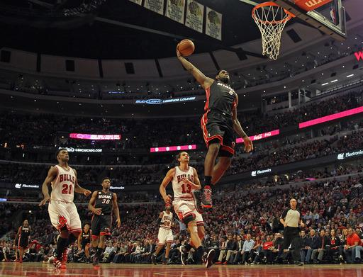 James, Heat beat Bulls 88-65 for 3-1 series lead