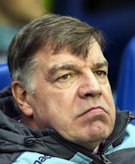 West Ham United manager Sam Allardyce watches his side at Reading on December 29, 2012. Allardyce made no attempt to disguise his anger at his side's performance after their 3-0 defeat at Sunderland last weekend and admits he cannot allow the prospect of a trip to Old Trafford to distract the Hammers from their league campaign