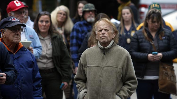 Beach Boys band member Al Jardine attends a community meeting in Big Sur