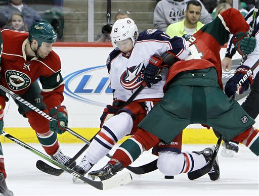 Blue Jackets edge Wild in shootout 3-2