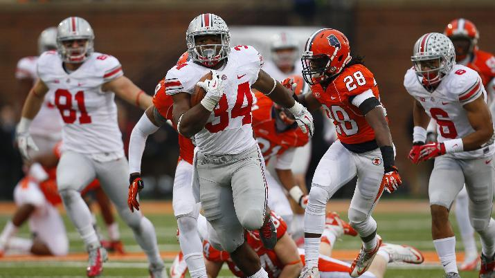 Buckeyes' ground game dominant over Illinois