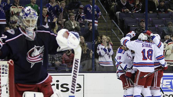 Hagelin's 2 goals power Rangers past CBJ, 4-2