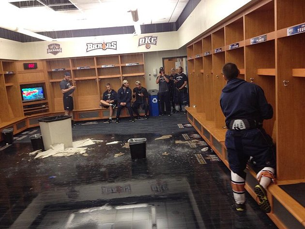 AHL: Oklahoma City Barons Playoff Game Postponed Due To Tornado; Locker Room Flooded
