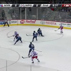 Ondrej Pavelec Save on Dan Girardi (11:24/2nd)