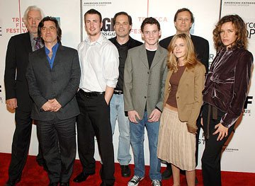 Donald Sutherland, director Griffin Dunne, Tom Ortenberg, Anton Yelchin, Kristen Stewart, Michael Burns and Paz de la Huerta Fierce People premiere - Tribeca Film Festival April 23, 2005 - New York, N