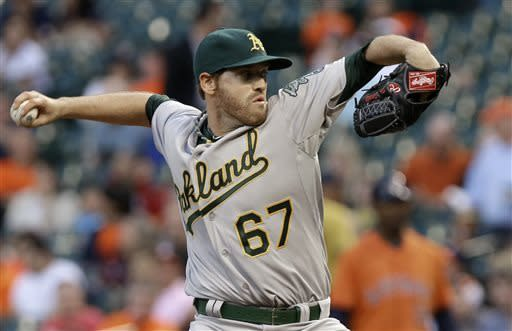 Crisp powers A's in 8-3 win over Astros