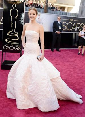 Jennifer Lawrence arrives at the Oscars on February 24, 2013 in Hollywood, Calif. -- Getty Images