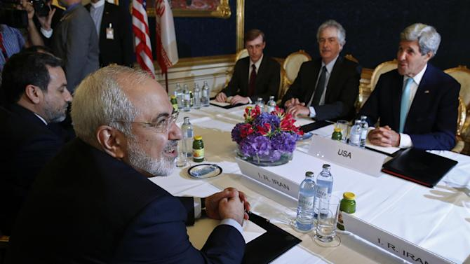 Iran's Foreign Minister Mohammad Javad Zarif meets with Secretary of State John Kerry
