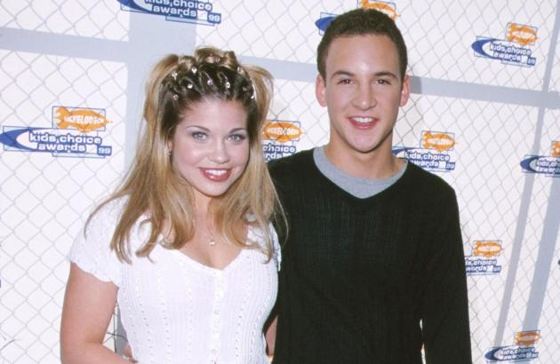 Danielle Fishel & Ben Savage during Nickelodeon's 12th Annual Kids Choice Awards at UCLA Pauley Pavillion in Westwood, California in 1999 -- Getty Premium