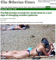It's 90 Degrees in Siberia and People Are Sunbathi…