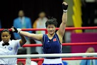 World number three 75kg fighter Li Jinzi at the 16th Asian Games in Guangzhou in 2010. Li will be competing for a middleweight Olympic place at the AIBA World Women's Championships on Wednesday