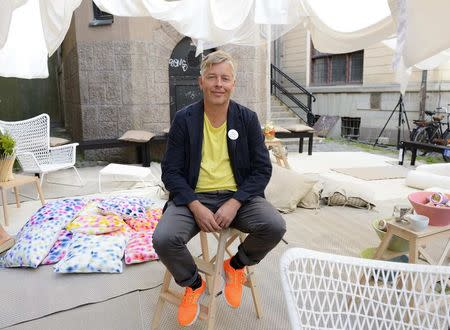 IKEA design chief Marcus Engman poses for a picture in Stockholm