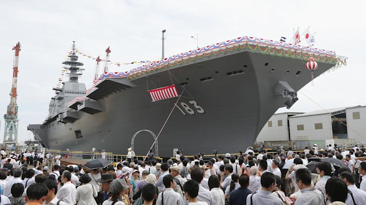 Japan unveils largest warship since World War II