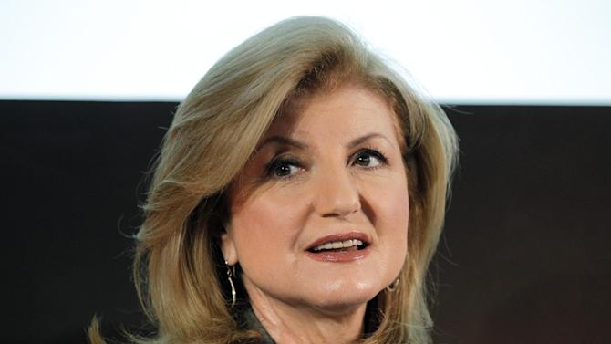 Arianna Huffington, US millionaire and co-founder of the news website The Huffington Post