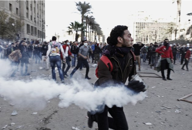 Protesters Gather In Cairo On The Second Anniversary Of The Revolution