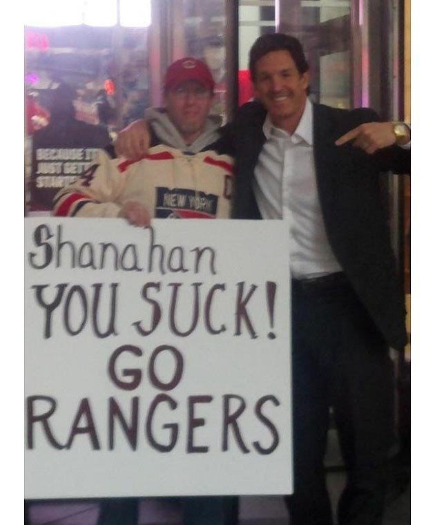 Shanahan Meets His Critic In The Most Surreal Image Of Postseason