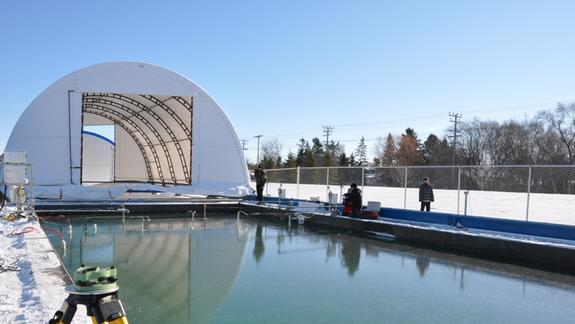 The Arctic in a Pool: Simulator Grows Sea Ice