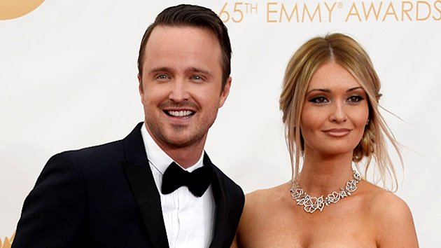 Aaron Paul Can t Stop Gushing About His Wife  Lauren Parsekian  ABC    Aaron Paul Wife