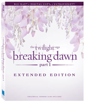 The Twilight Saga: Breaking Dawn - Part 1 Extended Edition Blu-ray Box Art