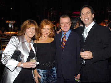 Carol Leifer, Joy Philbin, Regis Philbin and Jerry Seinfeld