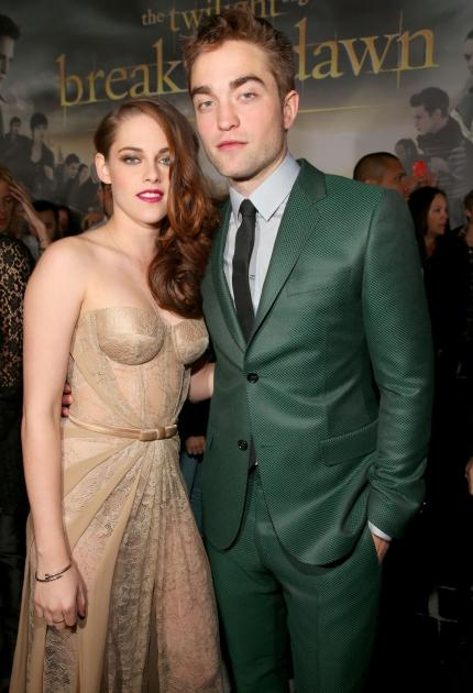 Kristen Stewart and Robert Pattinson arrive at the premiere of Summit Entertainment's 'The Twilight Saga: Breaking Dawn - Part 2' at Nokia Theatre L.A. Live in Los Angeles on November 12, 2012  -- Getty Images