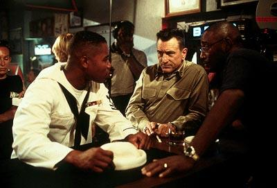 Cuba Gooding Jr. , Robert De Niro and director George Tillman Jr. on the set of 20th Century Fox's Men of Honor
