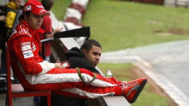 Felipe Massa relaxes (Reuters)