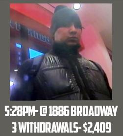 """This Feb. 19, 2013 surveillance image taken from a graphic released by the U.S. Attorney's Office in New York City shows a man identified as """"defendant Reyes"""" allegedly using fraudulent magnetic cards to steal money from one of several cash machines in Manhattan. Federal prosecutors on Thursday, May 9, 2013, said that a gang of cyber-criminals stole $45 million in a matter of hours by hacking their way into a database of prepaid debit cards and then draining cash machines around the globe. (AP Photo/U.S. Attorney's Office)"""