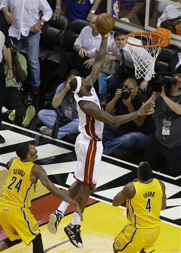 LeBron, Heat dig deep to top Pacers in Game 1