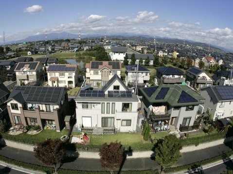 solar power housing residential development
