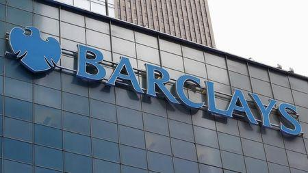A Barclays sign is seen on the exterior of the Barclays U.S. Corporate headquarters in the Manhattan borough of New York