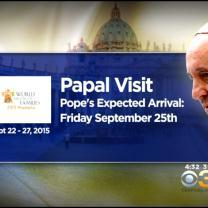Pope Francis Announces Visit To Philadelphia For World Meeting Of Families