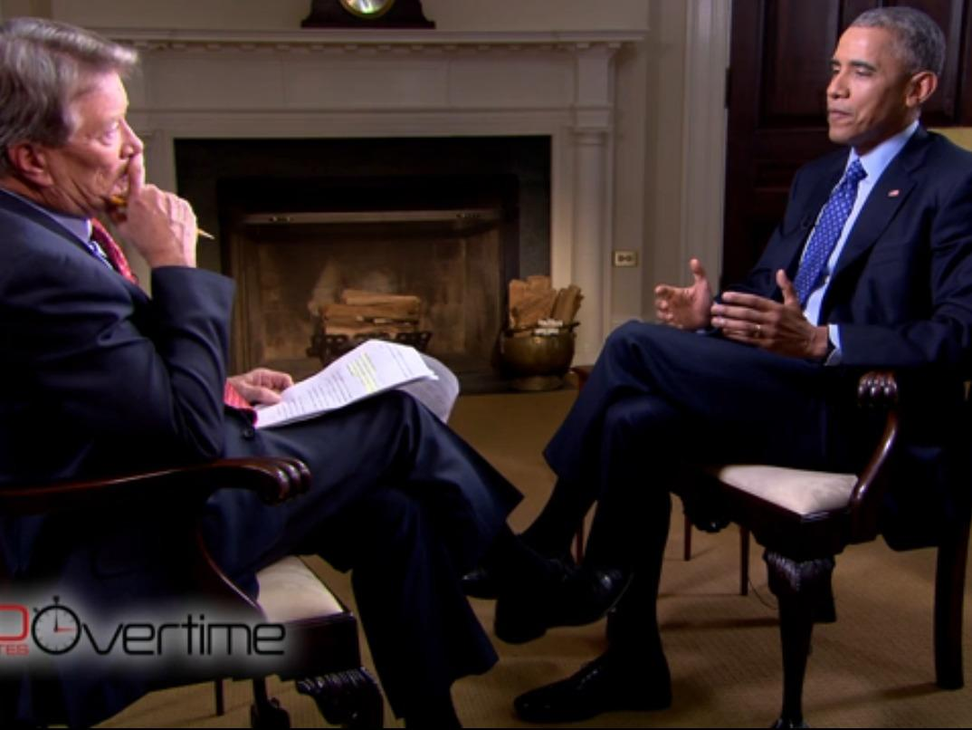 Obama had a very contentious interview with '60 Minutes'