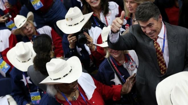 Gov. Rick Perry is eager to woo California tech companies to Texas.