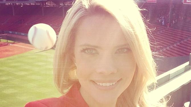 Reporter About to Be Hit by a Baseball Snaps Selfie