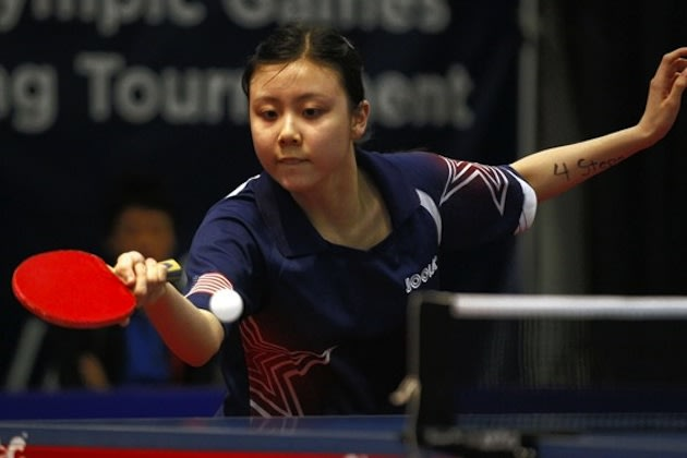 U.S. Olympic table tennis player Ariel Hsing — Associated Press