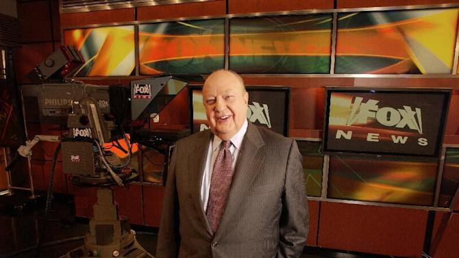 "FILE - In this Sept. 29, 2006 file photo, Fox News CEO Roger Ailes  poses at Fox News in New York. Propelled by Ailes' ""fair and balanced"" branding, Fox has targeted viewers who believe the other cable-news networks, and maybe even the media overall, display a liberal tilt from which Fox News delivers them with unvarnished truth. (AP Photo/Jim Cooper, file)"