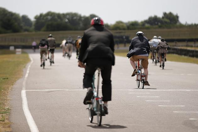 Folding Bikes Race At Goodwood