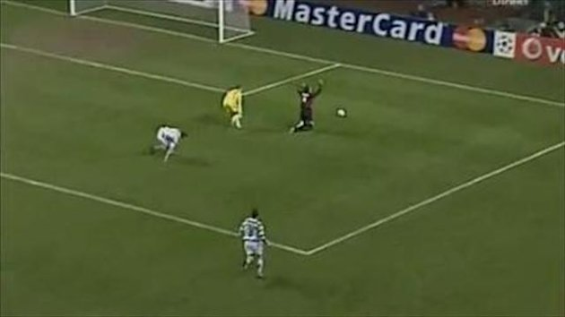 2007 Celtic-Milan Gilardino dive