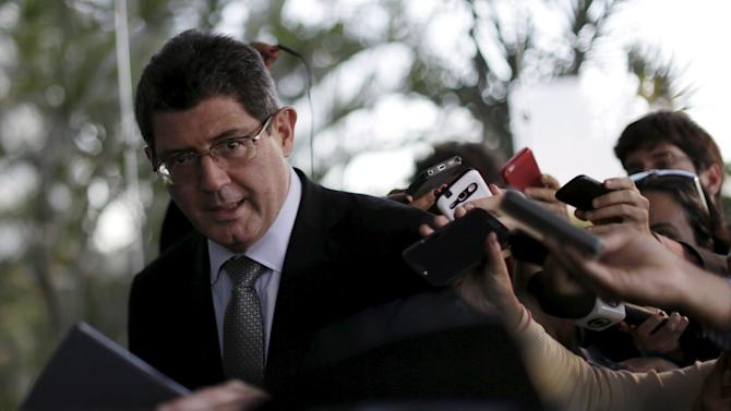 Brazil's Finance Minister Joaquim Levy is seen after a meeting with Brazil's Minister for Development, Industry and Trade Armando Monteiro in Brasilia