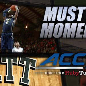 Pitt's Wright Sweet Pass to Young for Dunk | ACC Must See Moment