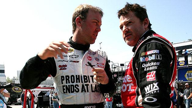 Kevin Harvick and Tony Stewart