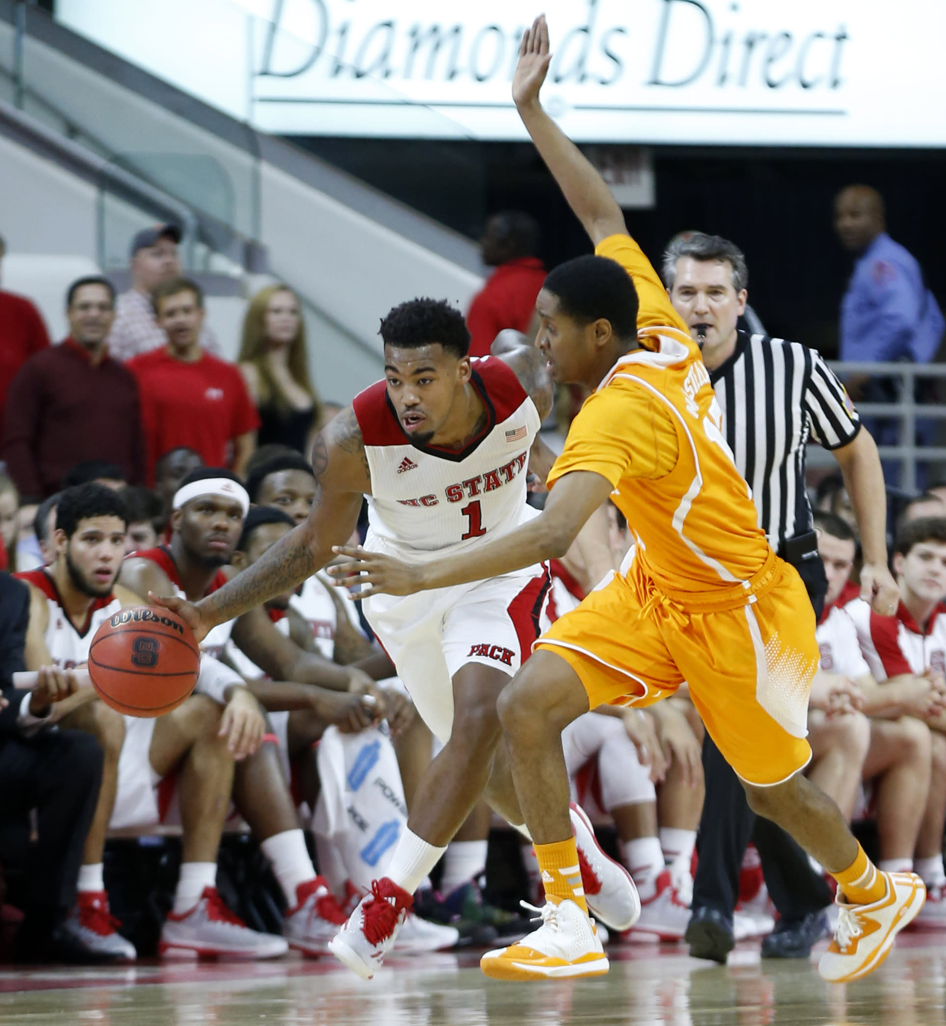 NC State beats Tennessee 83-72